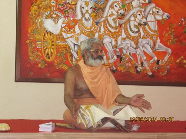 every first saturday  classes taken by Bhrahmasree Swamy Prajnanananda Theerthapadar